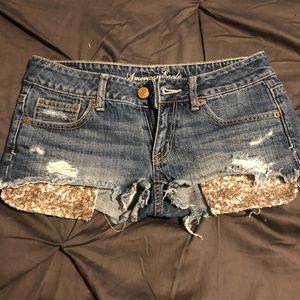 Glitter pocket shorts